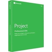 Microsoft Project 2016 Professional Full Retail Box