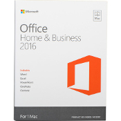 Microsoft Office Home & Business 2016 for Mac Full Retail Box