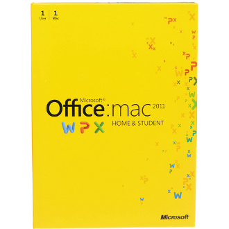 Microsoft Office for Mac Home and Student 2011 Retail Box 1 MAC