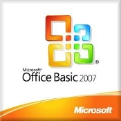 Microsoft Office 2007 Basic w/CD & COA