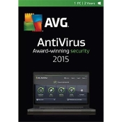 AVG AntiVirus 2015 1-PC 2-Year Subscription Retail Box