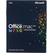 Microsoft Office for Mac Home and Business 2011 Retail Box