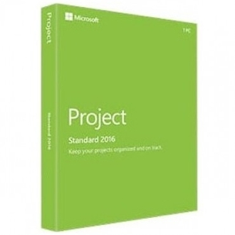 Microsoft Project Standard 2016 for Windows 1PC Full Retail Box