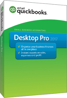 QUICKBOOKS PRO 2017 PC Full Retail Box