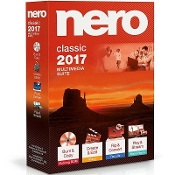 Nero 2017 Classic Software Suite Windows Full Retail Box