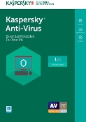 Kaspersky Anti-Virus 2018 - 1 Device 1 Year Retail Key Card
