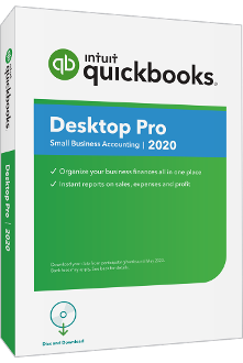 QuickBooks Desktop Pro 2020 Full Retail Box